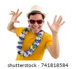 carnival. brazilian celebrating.... | Shutterstock . vector #741818584
