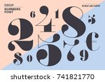 font of numbers in classical... | Shutterstock . vector #741821770