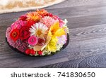 floral arrangement of autumn... | Shutterstock . vector #741830650