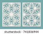 die and laser cut ornamental... | Shutterstock .eps vector #741836944