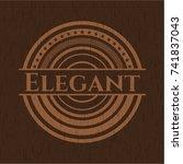 elegant wood signboards | Shutterstock .eps vector #741837043