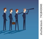 businessmen teamgroup avatars... | Shutterstock .eps vector #741843040