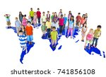group of diverse kids studio... | Shutterstock . vector #741856108
