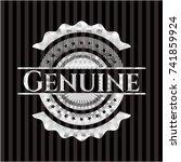 genuine silver emblem or badge | Shutterstock .eps vector #741859924