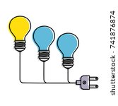 bulb light with connector | Shutterstock .eps vector #741876874