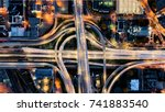 intersection aerial view  | Shutterstock . vector #741883540