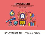 vintage retro color style flat...   Shutterstock .eps vector #741887008