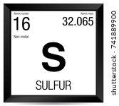 sulfur symbol. element number... | Shutterstock .eps vector #741889900