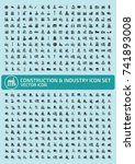 construction and industry icon... | Shutterstock .eps vector #741893008