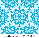vector seamless pattern with a... | Shutterstock .eps vector #741893800