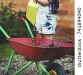 kid offspring adolescence child ... | Shutterstock . vector #741894040