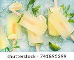 summer refreshing lemonade... | Shutterstock . vector #741895399