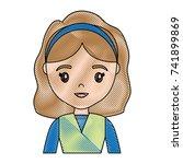 cartoon woman icon | Shutterstock .eps vector #741899869