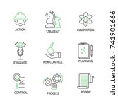 modern flat thin line icon set...