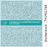 commerce and shopping icon set... | Shutterstock .eps vector #741901768