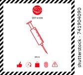 medical syringe icon | Shutterstock .eps vector #741904090