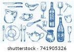 kitchenware set. beautiful... | Shutterstock .eps vector #741905326