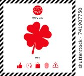 clover with four leaves   Shutterstock .eps vector #741907750