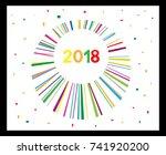 happy new year 2018. ... | Shutterstock .eps vector #741920200