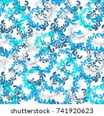 abstract  background with blue... | Shutterstock .eps vector #741920623