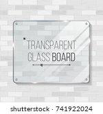 shining glass . beautiful blank ... | Shutterstock . vector #741922024