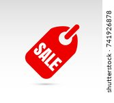 tag with discount offer. sale... | Shutterstock .eps vector #741926878