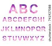 low poly alphabet  vector... | Shutterstock .eps vector #741927088