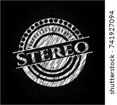 stereo chalk emblem written on...   Shutterstock .eps vector #741927094