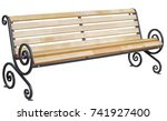 park bench isolated on white... | Shutterstock . vector #741927400