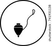 spinning top symbol | Shutterstock .eps vector #741931138