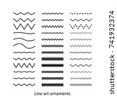 Hand drawn doodle line set vector illustration. | Shutterstock vector #741932374