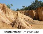 the rock rain forest phrae... | Shutterstock . vector #741934630