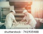 blurred bakery shop in...   Shutterstock . vector #741935488