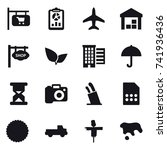 16 vector icon set   shop... | Shutterstock .eps vector #741936436