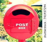 Red Round Mailbox