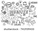 hand drawn vector illustration... | Shutterstock .eps vector #741939433