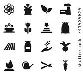 16 vector icon set   atom ... | Shutterstock .eps vector #741939829