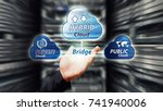 hybrid cloud computing service  ... | Shutterstock . vector #741940006