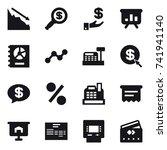 16 vector icon set   crisis ... | Shutterstock .eps vector #741941140