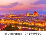 view of the city center in... | Shutterstock . vector #741949990