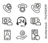 assistance vector icons set.... | Shutterstock .eps vector #741950959