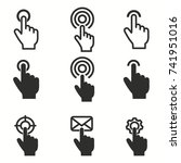touch vector icons set. black... | Shutterstock .eps vector #741951016