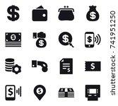 16 vector icon set   dollar ...   Shutterstock .eps vector #741951250