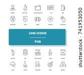 line icons set. pub pack....