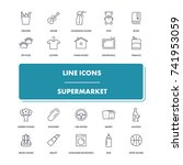 line icons set. supermarket...