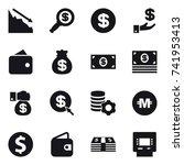 16 vector icon set   crisis ... | Shutterstock .eps vector #741953413