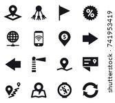 16 vector icon set   pointer ... | Shutterstock .eps vector #741953419