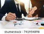asian business adviser meeting... | Shutterstock . vector #741954898