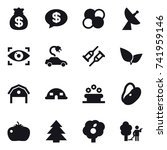 16 vector icon set   money bag  ... | Shutterstock .eps vector #741959146