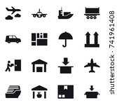 16 vector icon set   journey ... | Shutterstock .eps vector #741961408